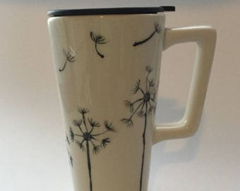 Travel Mug With Handle Etsy