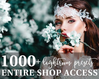 Lightroom Presets Bundle 1000+ Professional Photo Editing Tools for Portrait, Newborn, Wedding Photographers