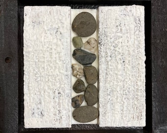Encaustic with Bamboo - White e1