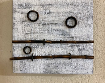 Encaustic with Bamboo - White e2