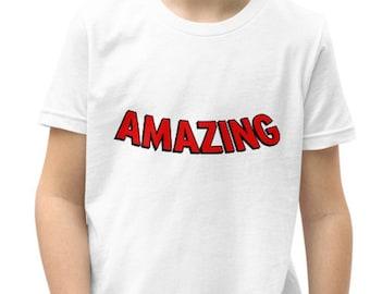 Spider-Man Shirt - Amazing Spiderman - Kids & Youth T-shirt -  Spiderman T-shirt - Youth Marvel T-Shirt - Kids Shirt - Marvel Kids Shirt