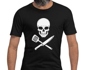 Chef Shirt - Pirate Kitchen - Men's & Women's T-shirt - Pirate Chef Shirt - Jolly Roger - Foodie T-shirt - Chef Tshirt - Cooking Shirt