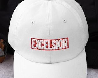 Stan Lee Hat - Excelsior - Dad Hat Baseball Cap - Marvel Stan Lee Quote - Marvel Hat - Stan Lee Excelsior - Marvel Comics