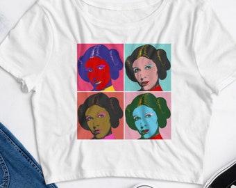 Star Wars Crop Top - Four Leias - Women's Crop Top - Star Wars Shirt - Princess Leia - Andy Warhol - Star Wars Pop Art - Star Wars Gift