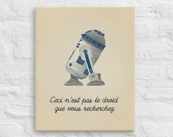 Star Wars Art - The Treachery of the Force - Stars Wars Magritte Funny Wall Art & Canvas Print - Star Wars Painting - Star Wars Gift