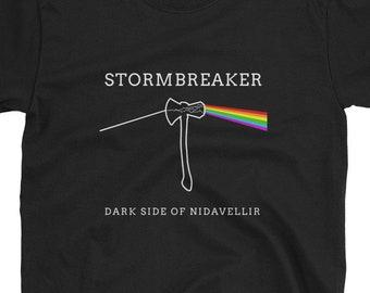 b530136f095 Dark Side of Nidavellir - Men s Tee - Marvel Thor   Pink Floyd Parody  Graphic T-Shirt