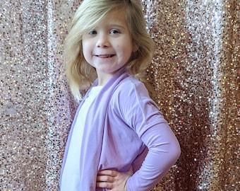 Girls & Tween Cocoon Cardigan- solid color Cardigan, Tunic Length Cardigan