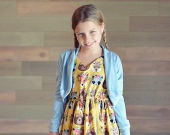 Alice Dress: Spring Dresses with Cardigan, Girl's Easter Dress, Summer Dress