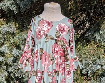 Girl's Emma Fall Dress - Girl's Floral Dress, Girl's Fall Dress, Girl's Winter Dress, Twirly Dress