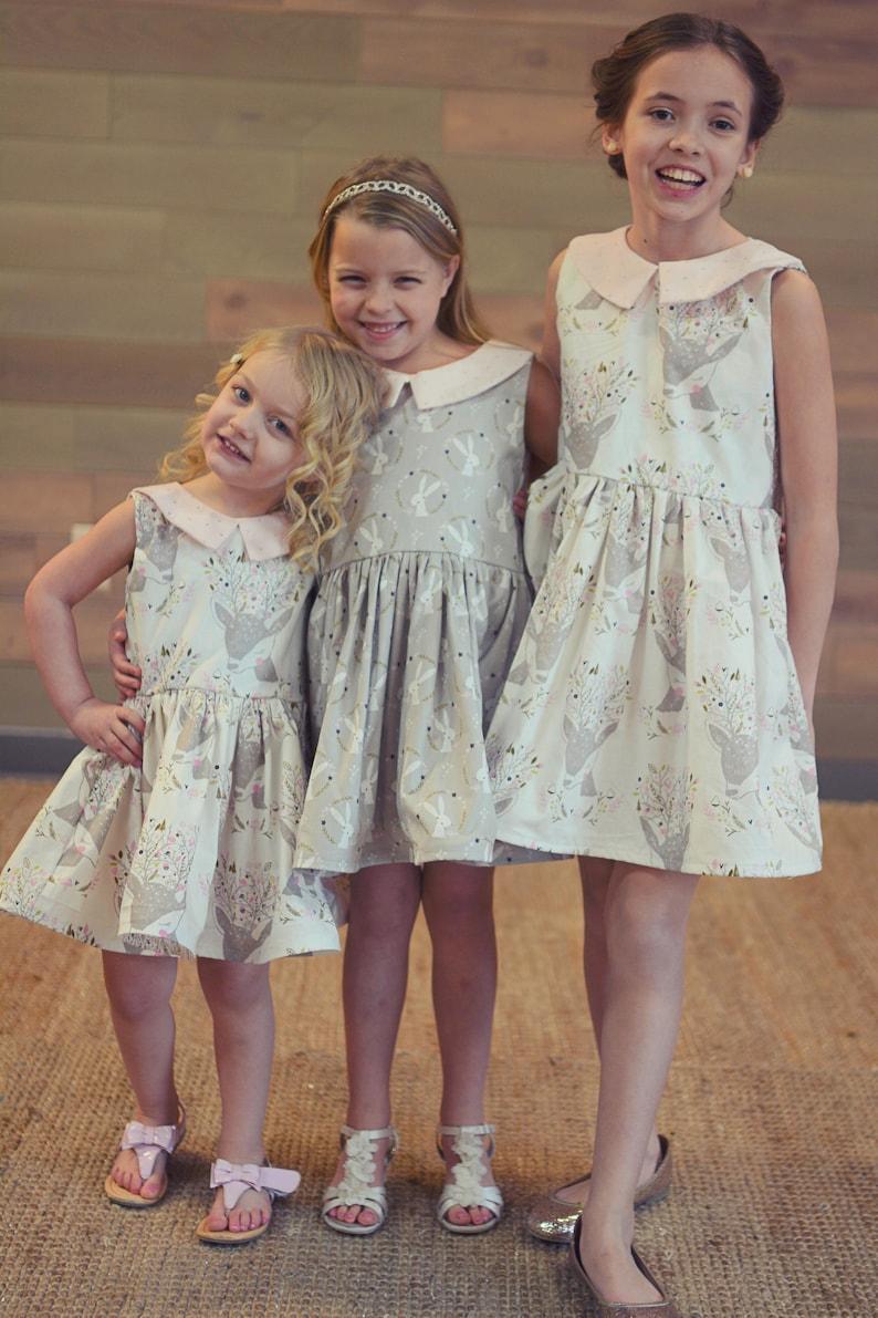 a9d3a7d19c9 Easter Dress Bunny Easter Dress Deer Easter Dress Spring | Etsy