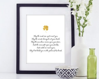 Irish blessing print | Etsy