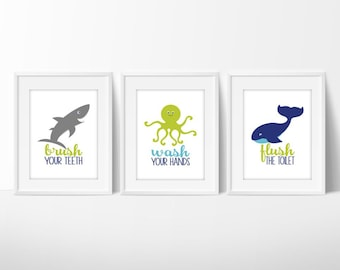 Kids Bathroom Art   Bathroom Decor   Kids Bathroom Decor   Bathroom Wall  Art   Bathroom Rules   Bathroom Wall Decor   Wash Your Hands