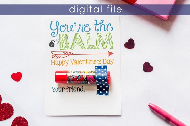 photograph regarding Printable Kid Valentine identified as Preschool Valentine Printable Valentine Preschool Valentines  Valentines Children Valentines College Valentine Youre the Balm Vday