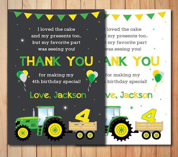 Traktor Dankeschon Karte Traktor Danken Sie Beachten Traktor Etsy