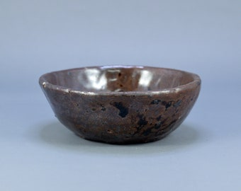 Vintage Japanese Shigaraki Ware Pottery Small Dish Plate Bowl