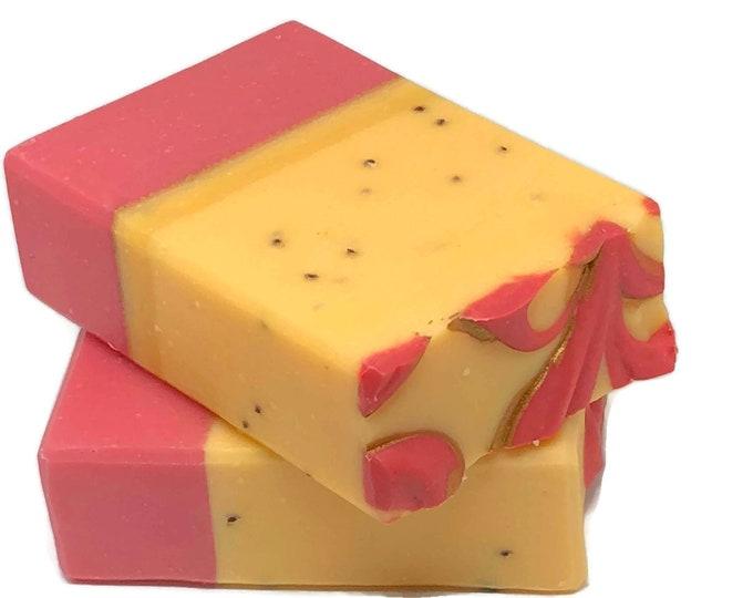Orange Cranberry Exfoliating Vegan Bath Soap Bar