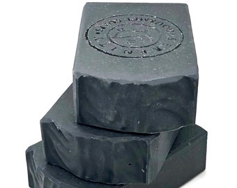 Black Detox Vegan Handmade Bath Body, Facial, Hand Soap Bar with Activated Charcoal (Unscented)