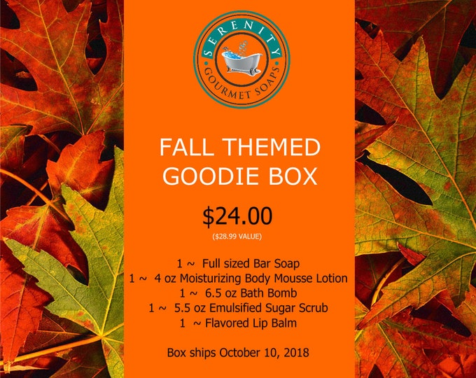 October Goodie Box (Bath And Body) ships October 10, 2018