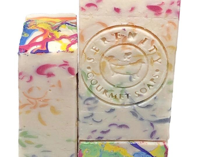 Over The Rainbow vegan handmade artisan bar soap