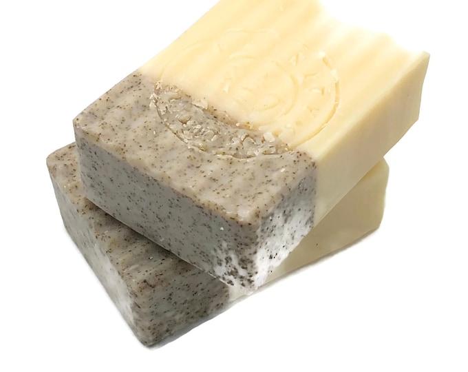 Lemongrass and Organic Sage Vegan Natural Exfoliating Bath and Hand Soap Bar
