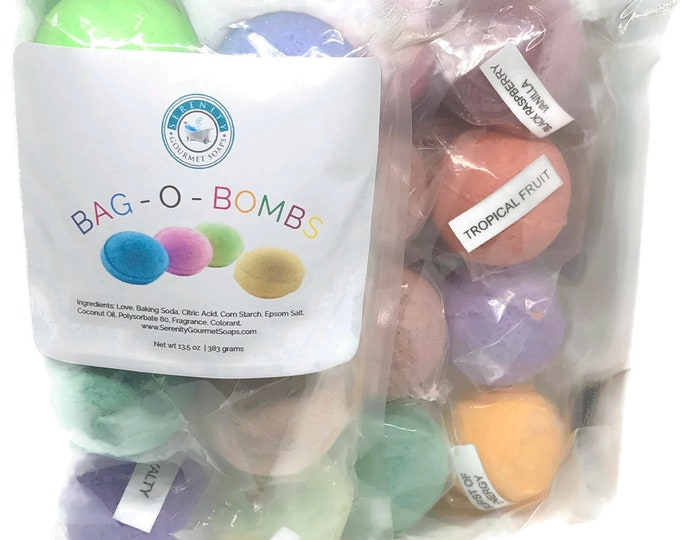 Bag O' Bombs 8 Count Mini Bath Bombs gift for her party favor