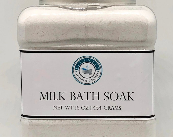 Milk Bath Soaks  16 oz Goat's Milk Ready To Ship Gift For Her Party Gift For Him