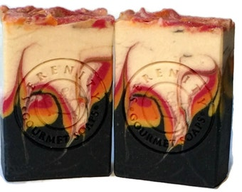 Bonfire Vegan Handmade Soap Bar with Activated Charcoal