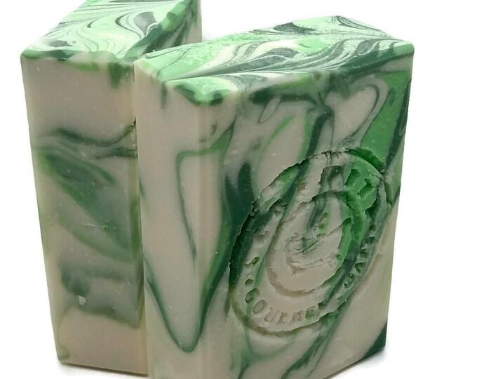 Cucumber Mint Vegan Handmade Soap Bar