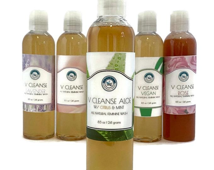 V Cleanse Aloe Liquid All Natural Feminine Body Wash with Citrus & Mint