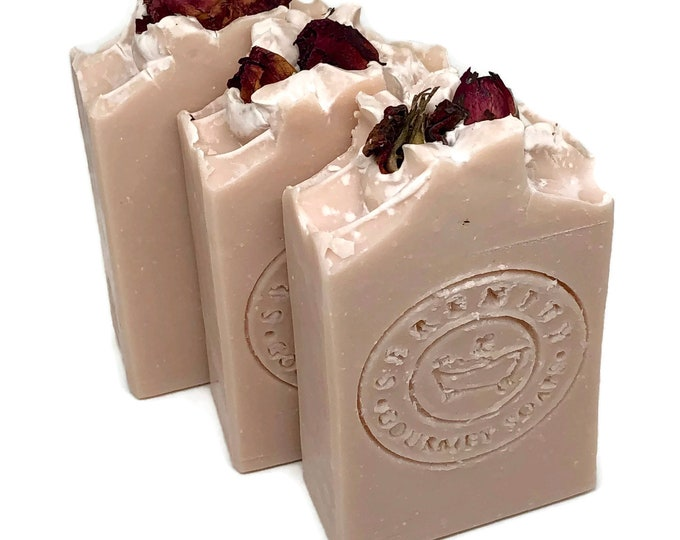 Rose Geranium Vegan All Natural Bath Soap Bar