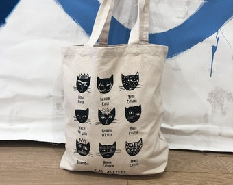 76a2dbbd3b1 Cat Artists Tote Bag