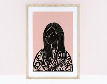 Catisse Cat Lady Print