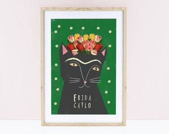 Frida Catlo Print