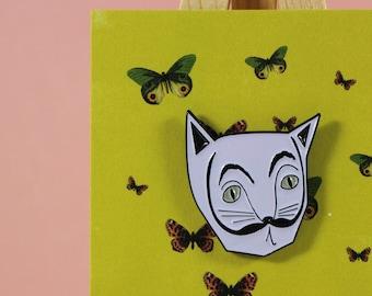 Salvador Dali (Catli) Artist Cat enamel Pin