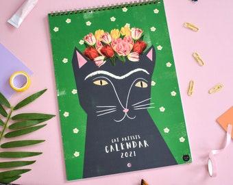 2021 Cat Artists Wall Calendar