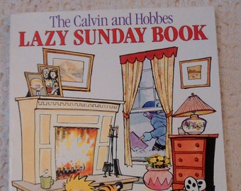 The Calvin and Hobbes Lazy Sunday Book by Bill Watterson, Calvin and Hobbes Books, Calvin and Hobbes Comics, Vintage Comic Books, Used