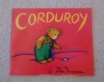 Corduroy Book Etsy
