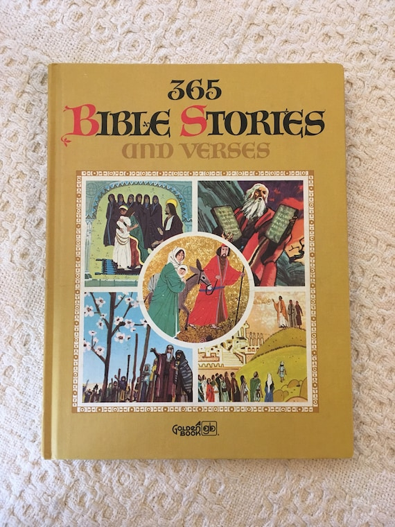 365 Bible Stories and Verses, Bible Story for Children, Bible Verses for  Children, Daily Bible Reading for Kids, Golden Book, Vintage Books