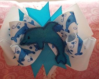 Dolphin Hair Bow