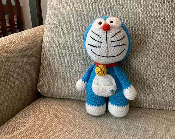 Crocheted  Handmade  Doraemon  Toy