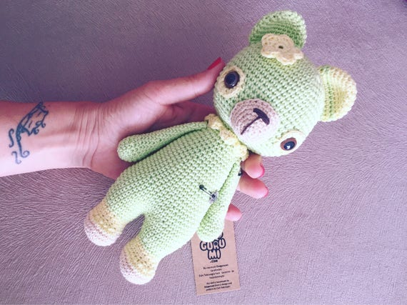Handmade Teddy Bear Toy -Amigurumi, Crochet-