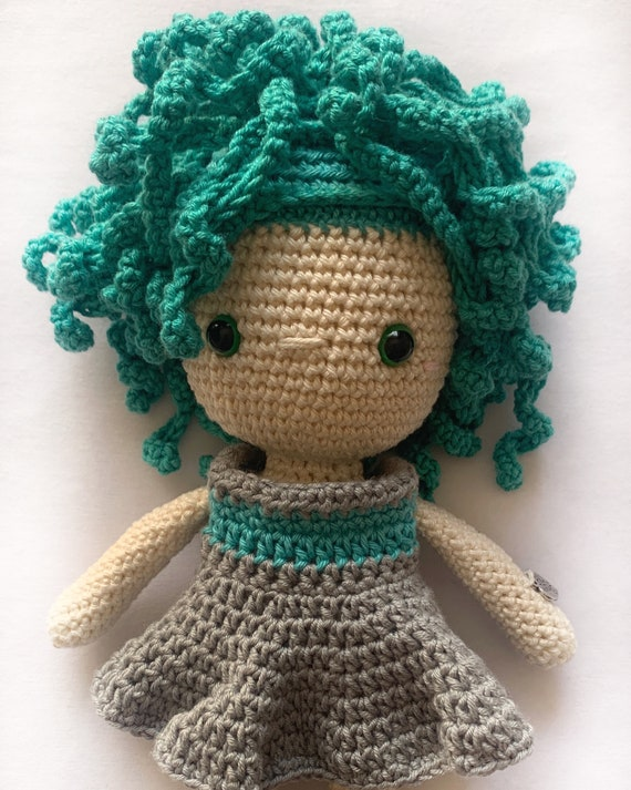 Crocheted  Handmade Girl Toy - Gift for Girl