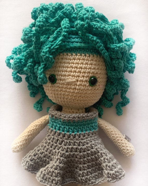 Crocheted  Handmade Girl Toy - Gift for Girl