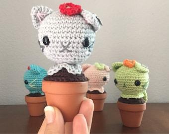 Crochet Cat Cactus