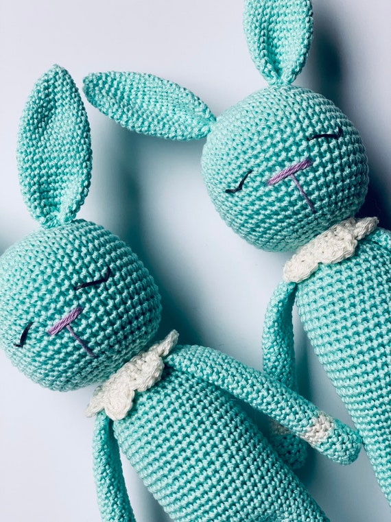 Crocheted  Handmade Easter Little Bunny Toy
