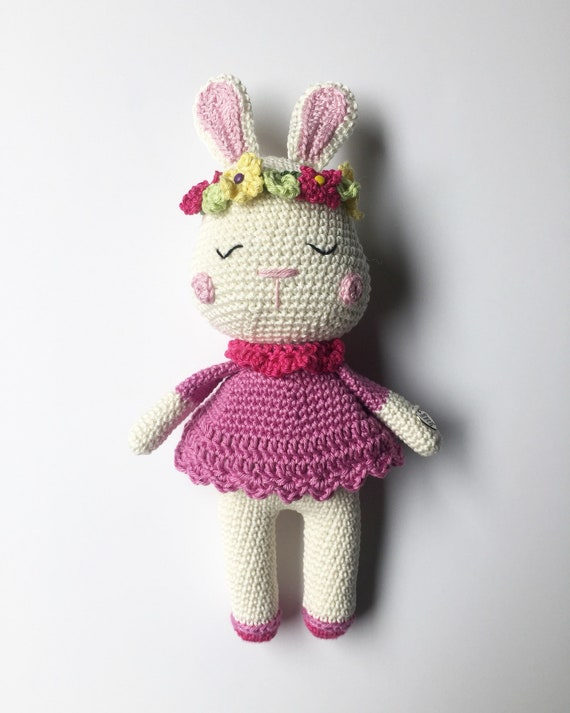 Crocheted  Handmade Bunny Toy - Gift for Girl