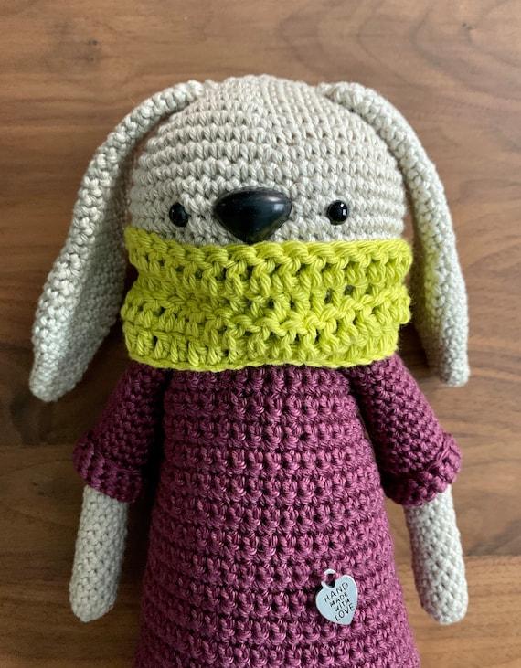 Crocheted  Handmade Easter Big Bunny Toy