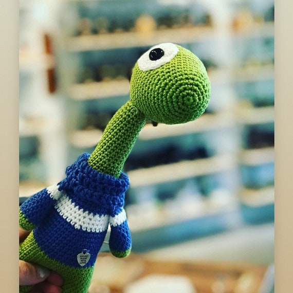 Crocheted  Handmade Dinosaur Toy