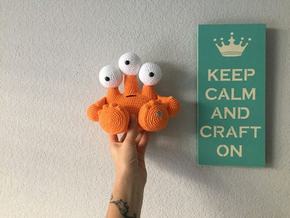 Crocheted  Handmade Monster Toy