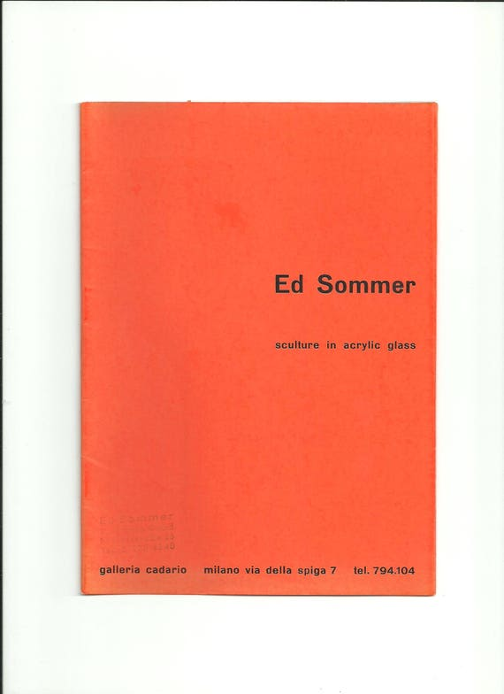 e53d79204d802 Ed Sommer Sculture in Acrylic Glass Sculpture misspelled Galleria Cadario  Milan 1967